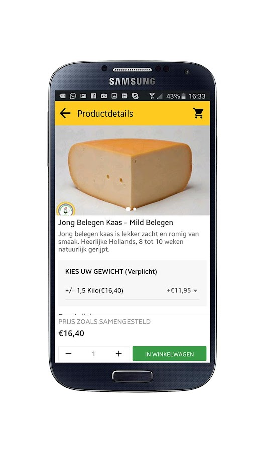 Goudse Kaas Shop - Kaas App- screenshot