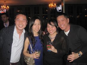Photo: NYC alumni at Tammany Hall Tavern: Mario Jinn Nagao '05, Nancy Fan '10, Evena Liao '12, Andy Chen '05