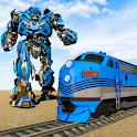 Army Train Robot Transforming War Games icon