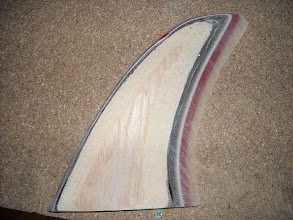 Photo: New oak veneer added and foiled into the fin