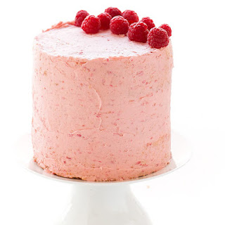 Soft Vanilla Cake with Raspberry Buttercream