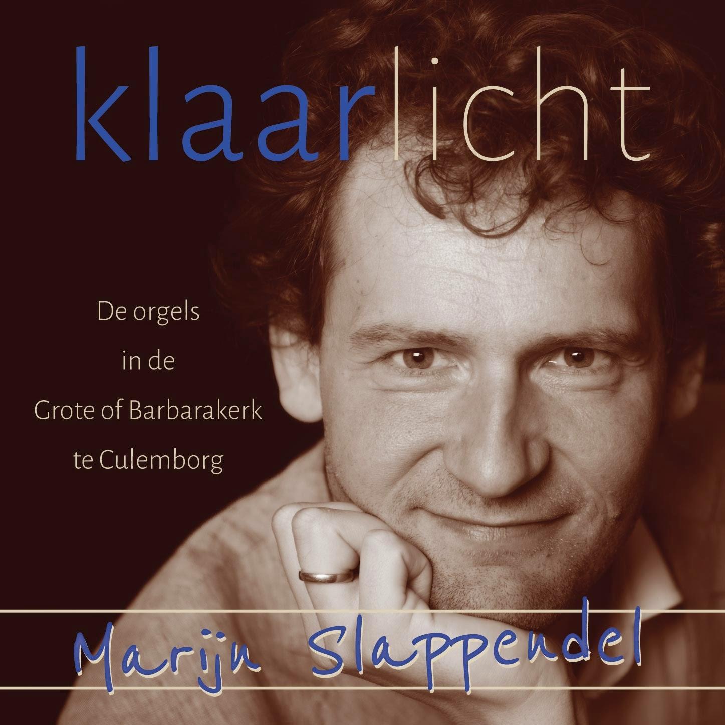 Photo: Cover van de eerste CD van Marijn Slappendel, cantor-organist van de Barbara Wijkgemeente te Culemborg.