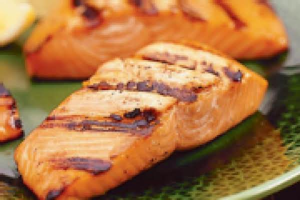 Grilled Salmon With Soy/maple Glaze