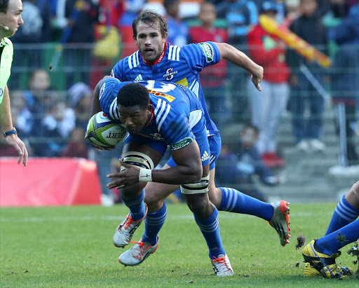 Sikhumbuzo Notshe of the Stormers during the Super Rugby match between DHL Stormers and Toyota Cheetahs at DHL Newlands on May 28, 2016 in Cape Town, South Africa.