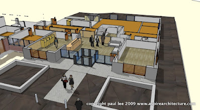 Photo: Phase 2 Plan Perspective: Refurbishment of Engineering Block in Mahon, County Cork, Ireland, completed January 2008. The project was carried out entirely in SketchUp Pro/ LayOut