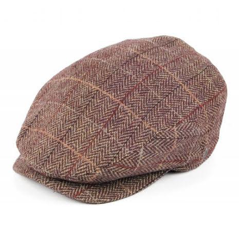 Tweed Extended Bill - brun/vinröd