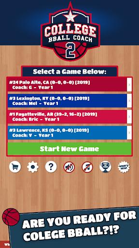 College BBALL Coach 2 Basketball Sim  screenshots 1
