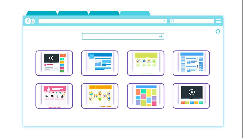 diferentes diseños web DEL