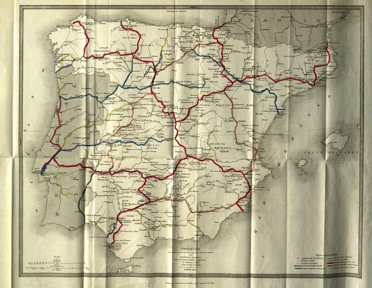 Proyecto de las líneas generales de navegación y de ferrocarriles en la Península española