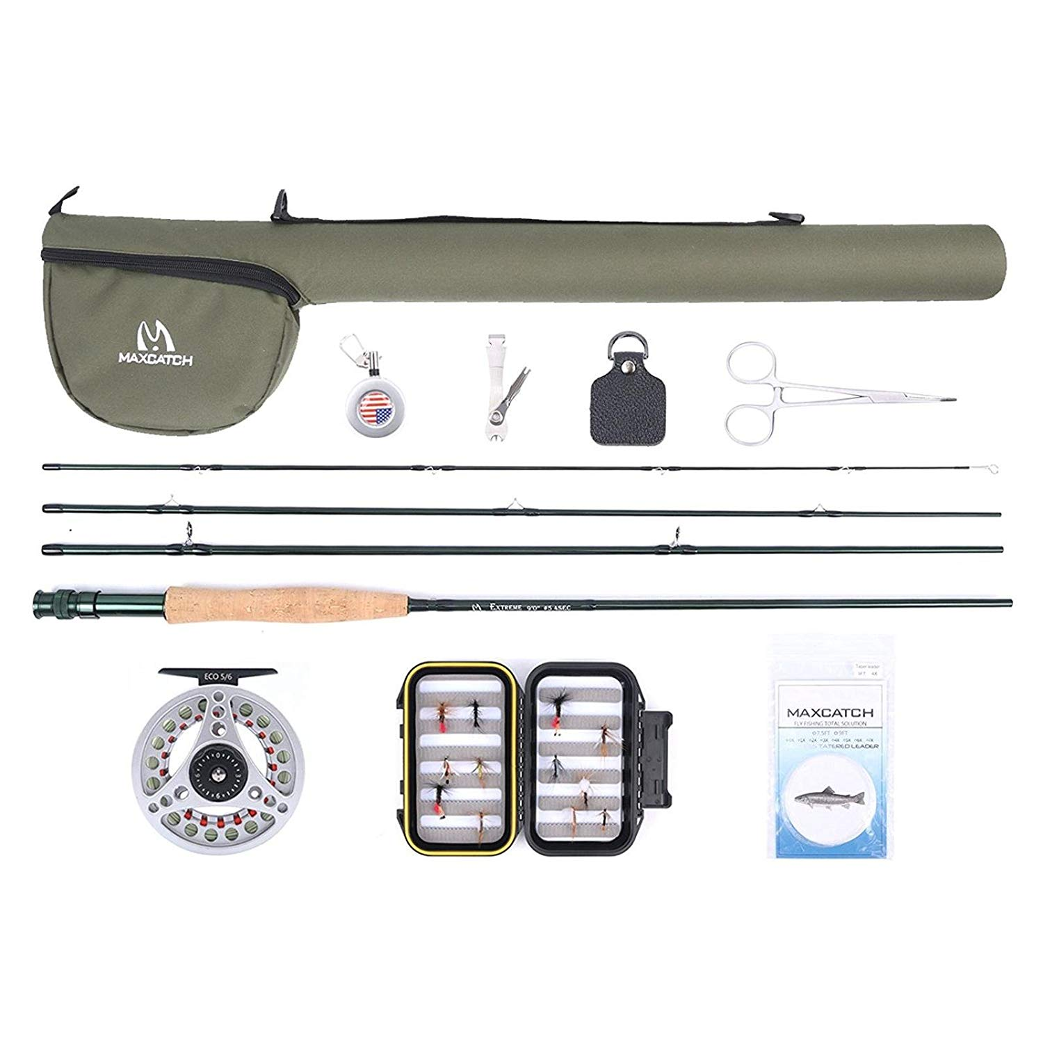 Maxcatch fly fishing beginner kit.