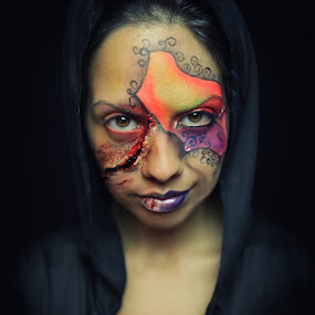 Evil's Colors by Daniele Salamone - People Body Art/Tattoos ( make up, woman, body art, tattoo, portrait )