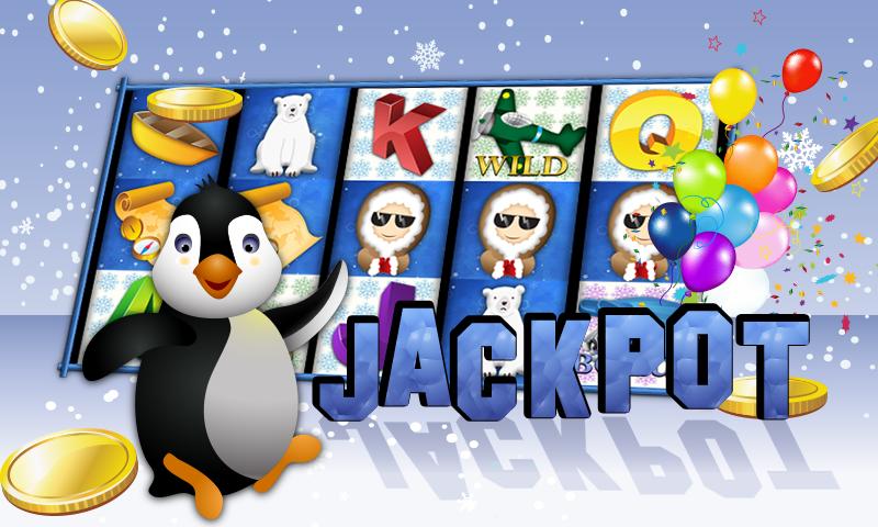 android Slots Penguin Super Casino Win Screenshot 1