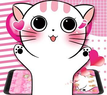 Cute Kitty Lovely Theme - náhled