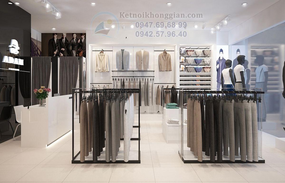 thiết kế shop thời trang nam cuốn hút