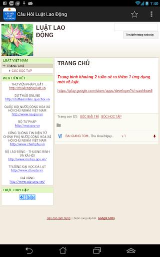 Cau Hoi Luat Lao Dong