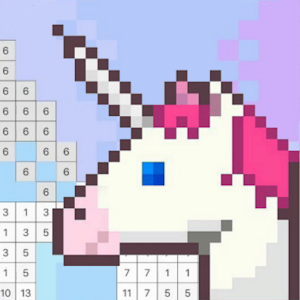Coloring Unicorn Book Sandbox Color By Number Page for PC