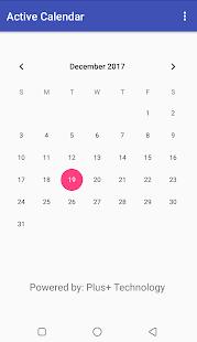 Active Calendar - náhled