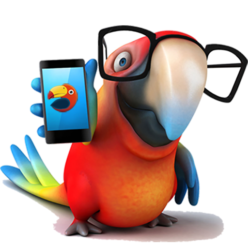 Funny Bird Pecking Crystal Screen Live Wallpaper