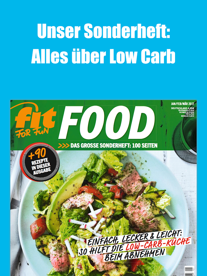FIT FOR FUN Magazin – Screenshot