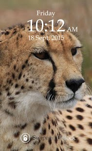 Cheetah Keypad Lock Screen screenshot