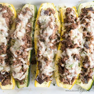 Shiitake Swiss Beef Stuffed Squash (Low Carb, Gluten-Free)
