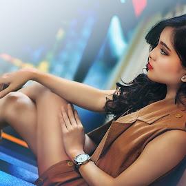 by Ka Seng - People Fashion ( sexy, girl, full color, lady, cafe, beauty, cute )