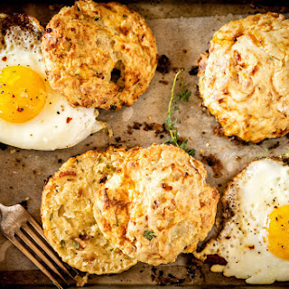 Herb and Bacon Cottage Cheese Biscuits.