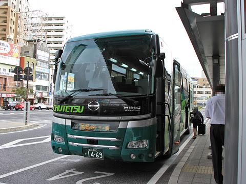 中鉄バス「ハーバープリンス」 1621 岡山駅西口改札中