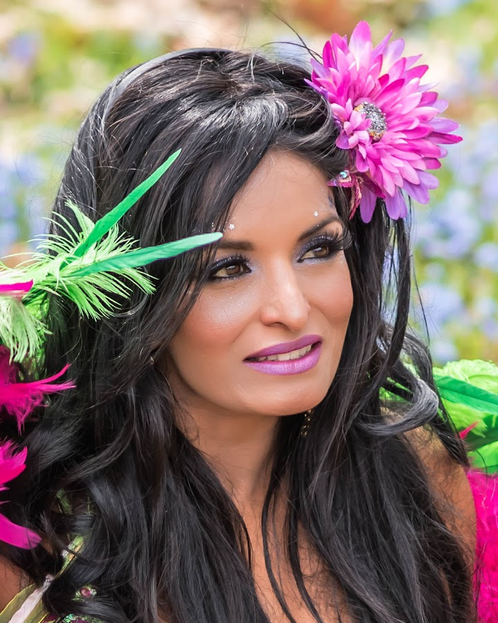 Springtime Beauty  by Lynn Kirchhoff - People Portraits of Women ( colorful, magical, woman, fairy, spring, portrait,  )