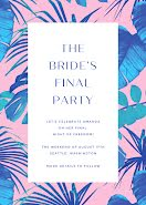 The Bride's Final Party - Party Invitation item