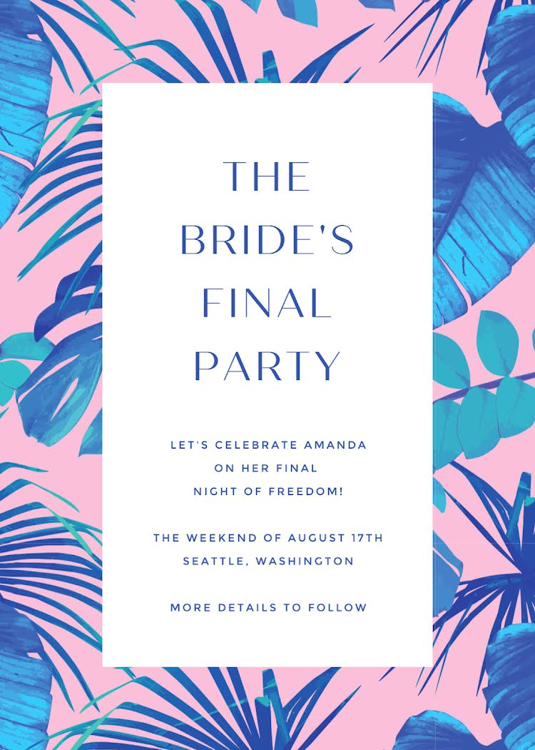 The Bride's Final Party - Party Invitation Template