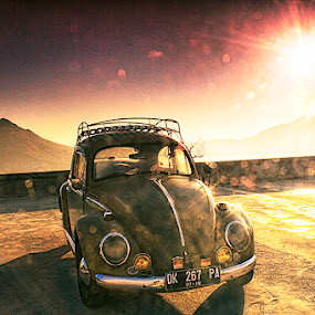 Hello, Tough Guy! by Kadek Jaya - Transportation Automobiles ( car, bali, mountain, sunrise, beetle )
