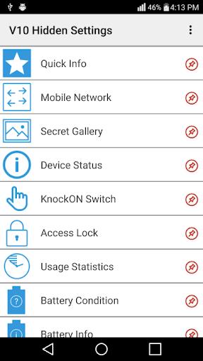 LG V10 Hidden Settings No Root 1.0 screenshots 1
