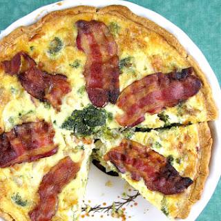 Chicken, Broccoli, Cheddar & Bacon Quiche Recipe
