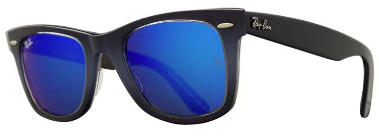 Ray-Ban Original Wayfarer Sunglasses come in shades of blue, green, pink, purple and grey.