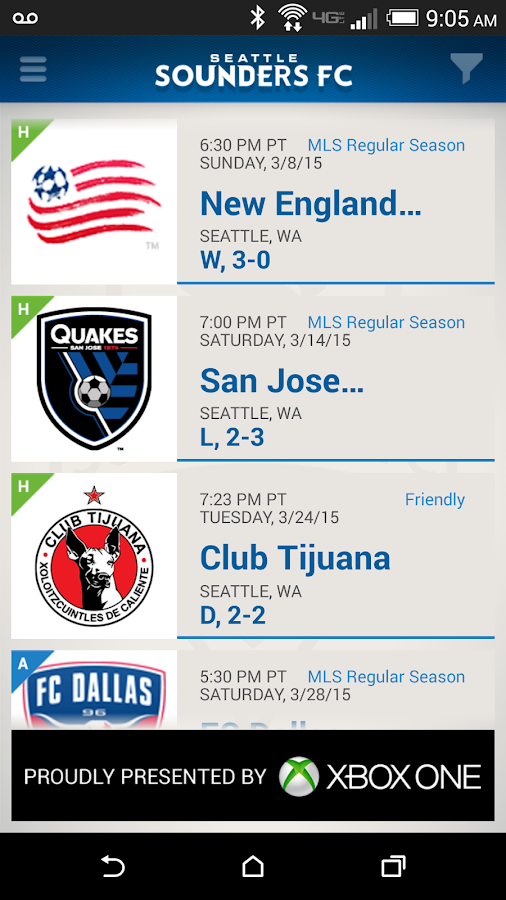Sounders FC - screenshot