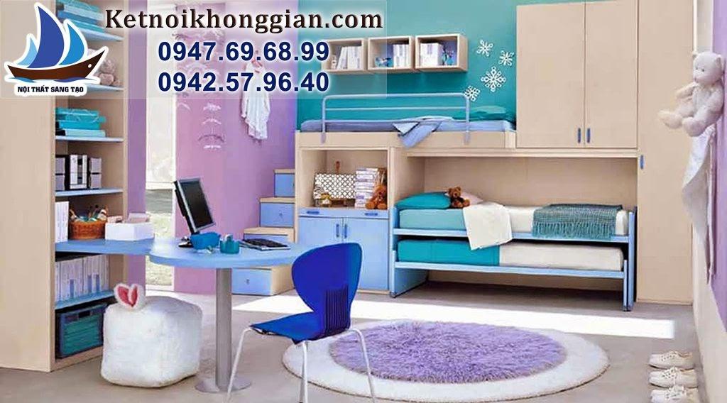 thiết kế nội thất phòng ngủ bé trai nghệ thuật