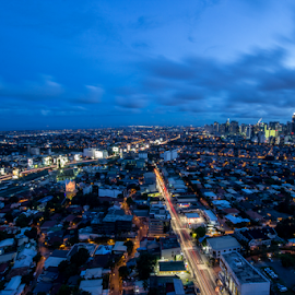 Blue Hour by Anton Labao - City,  Street & Park  Skylines