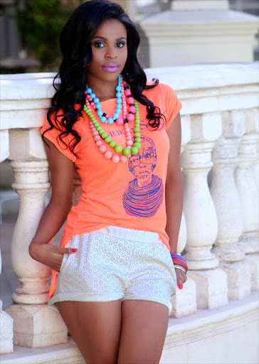 Big Brother Mzansi contestant Katlego Mohoaduba. Hair done by Dazzle Hair. Picture credit: Leeyonce/Lee Photography