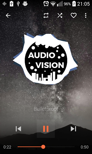 AudioVision Music Player ss1