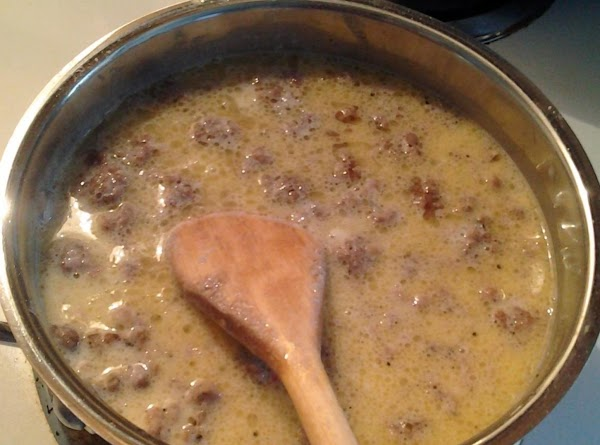 Remove from heat. Stir in your milk Put mixture back on the burner stirring constantly.  Once...