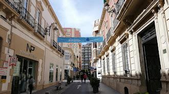 Pancarta por el 25 aniversario de Argar, efeméride que se ha visto afectada por el estado de alarma.