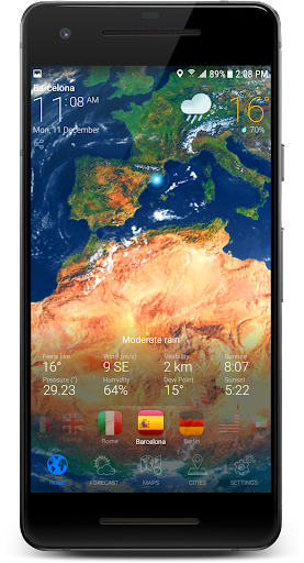 3D Earth - Weather Forecast with Animated Maps USA  screenshots 3