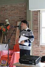 Photo: Palabras de bienvenida, a cargo de Guillermo-Presidente del Centro Sai Baba Rosario