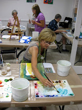 Photo: Laura Corbett in class- Re!ease Your Inner Artist with Rebecca Zdybel Wed. 12-2:30
