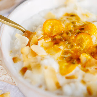Coconut and Passionfruit Rice Porridge