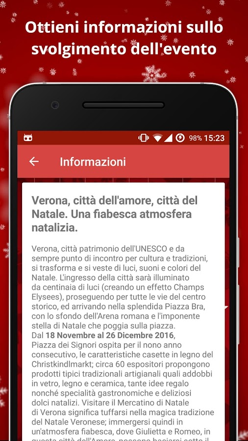 Mercatini di Natale a Verona- screenshot