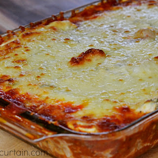 Saucy Zucchini Lasagna.