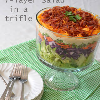 Seven-Layer Salad in A Trifle.