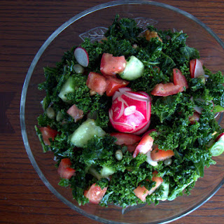 Spring Kale Salad with Radish and a Lemon-Caper Dressing